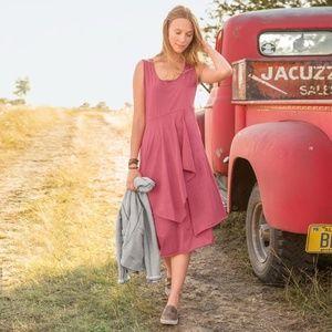 Sundance Catalog Farrow Draped Coral Dress Large